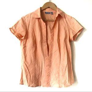 Trés You Women's Orange/Peach Colour Shirt Top